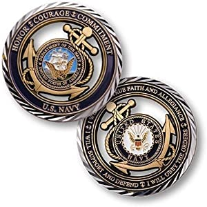 United States New Challenge Coin U.s. Navy Core Values Coins Crafts from MicronCrafts