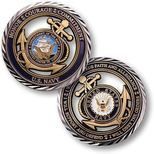 United States New Challenge Coin U.s. Navy Core Values Coins Crafts - Emerald Small S Boot