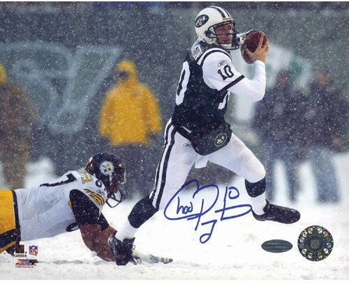 Pennington Autograph (Chad Pennington Snow Run vs. Steelers Autographed 16x20 Photographgraph - Certified Authentic Autograph)