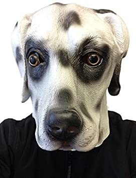 Máscara de Látex de Perro de Película 101 Dálmatas para Fiesta de ...