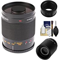 Samyang 500mm f/8.0 Mirror Lens (T Mount) with 2x Teleconverter (=1000mm) + Cleaning Kit for Samsung NX20, NX200, NX210 & NX1000 Digital Cameras