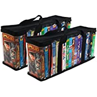 Evelots 2 VHS Storage Cases, Store 36 Tapes Total & Organize Your Collection