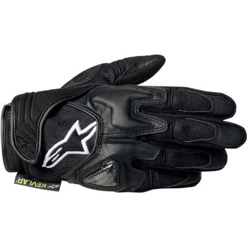 Alpinestars Mens Scheme Kevlar Textile Motorcycle Gloves Black Medium M
