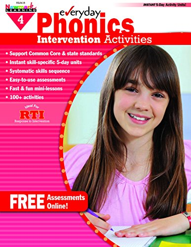 - Newmark Learning Grade 4 Everyday Intervention Activities Aid for Phonics