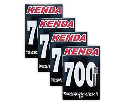 Kenda Road Bicycle Tube Bundle - 700 x 28/32 (27x1-1/8, 1-1/4) - 32mm SV - FOUR (4) PACK