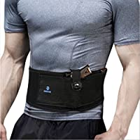 QGSTAR Belly Band Holster for Concealed Carry Tactical Gun Holsters Waistband Holster, Elastic Belt Holster for Pistols Revolvers with Double Magazine Pockets for Ladies and Men