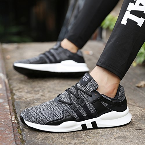 Respirant Casual Femme Chaussures Course Shoes De 716gris Homme Basses Gudeer Sports Mesh Baskets Running 8P6Cwqx