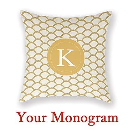 Design Your Own Pillowcase Cool Amazon Monogram Home Pillow Cover Family Design Your Own