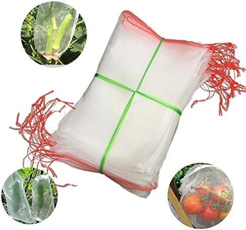 Agfabric Bug Net Bag Garden Netting Against Insects Birds Barrier Bags for Plant Fruits 12 x 8 10 Pack