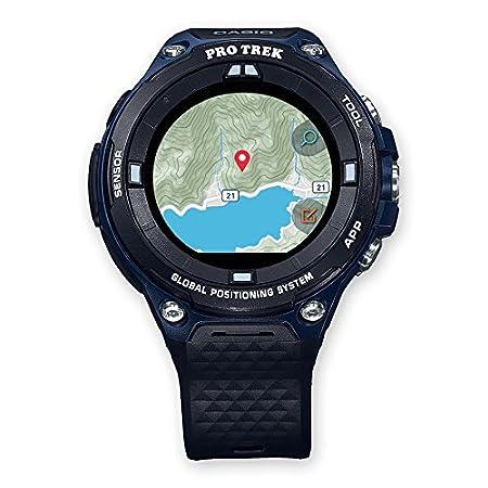 Casio WSD-F20A-BUAAE Reloj Inteligente Negro, Azul LCD GPS (satélite) - Relojes Inteligentes (LCD, Pantalla táctil, WiFi, GPS (satélite), 90 g, Negro, ...