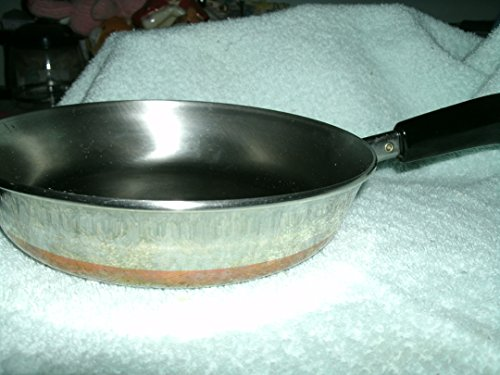 Vintage Revere Ware Copper Clad 9 Inch Saucepan Skillet -