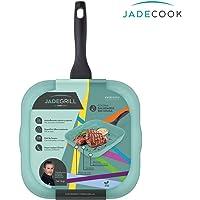 Grill de cocina Jade Cook Prepara tus alimentos sin grasa con el grill de cocina Jade Cook, su base de aluminio con cerámica y recubrimiento de polvo de jade