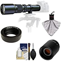 Samyang 500mm f/8.0 Telephoto Lens with 2x Teleconverter (=1000mm) for Olympus OM-D EM-5, Pen E-P2, E-P3, E-PL2, E-PL3, E-PM1 & Panasonic Micro 4/3 Digital Cameras