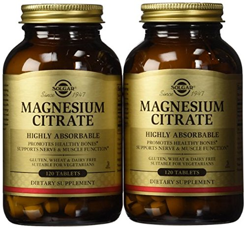Solgar - Magnesium Citrate,pack of two(120 tablets in each)