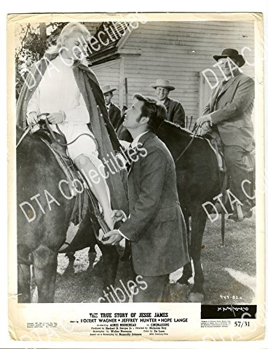 MOVIE PHOTO: THE TRUE STORY OF JESSE JAMES-1957- 8X10 STILL-WESTERN-HOPE LANGE-ROBERT W FN (The True Story Of Jesse James 1957)