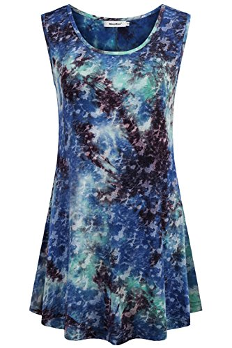 Sixother Cami Tank, Sleeveless Cool Tunics for Summer Scoop Neck Tops for Women Tie Dye Shirts Plus Size Business Blouses for Woman M by Sixother