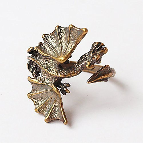 Dragon brass ring size changeable
