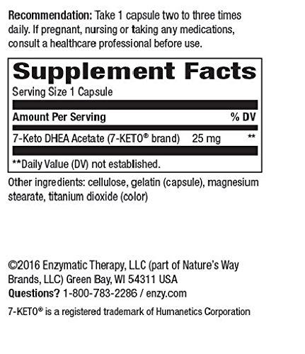 Enzymatic Therapy 7-Keto, Dhea Metabolite, 60 Capsules by Enzymatic Therapy (Image #4)