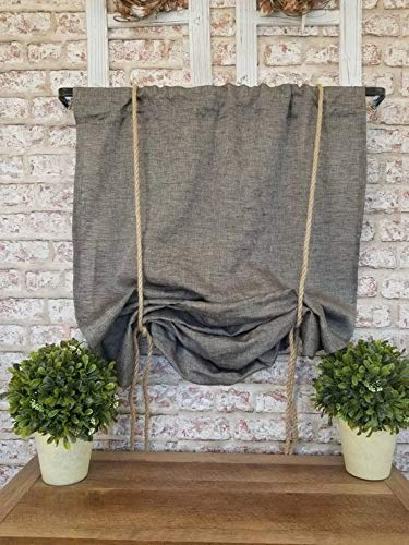Amazon.com: Framhouse grey linen curtain, Rustic linen ...