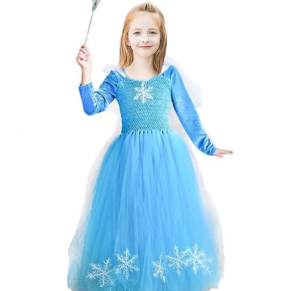 madchen schnee konigin elsa kostum flanell prinzessin halloween kostum party outfit kostum mit langen armeln amazon de bekleidung