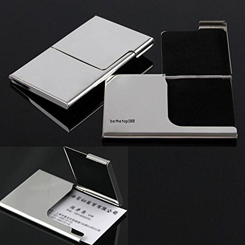 Card holder Stainless Steel Pocket Business Name Credit ID Card Holder Box Metal Box Case business card wallet
