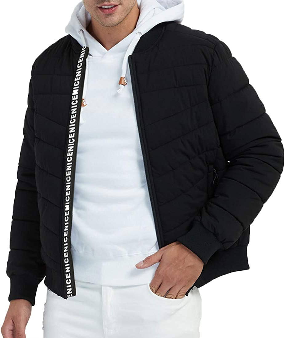 YOULAN Mens Outdoor Jacket Water Resistance Down Cotton Fill