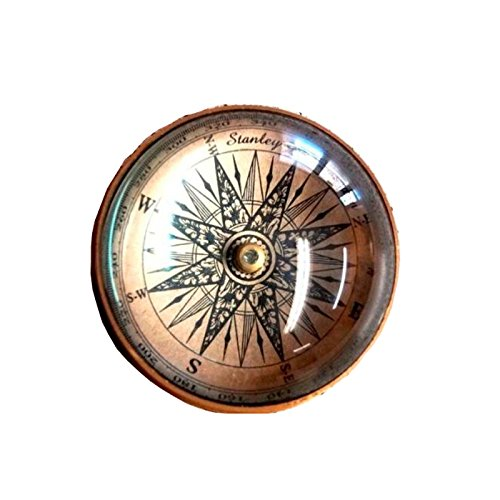 Armor Venue Paper Weight Marine Desktop Compass - Antique Brass Felt Lining Outdoor Camping Gear by Armor Venue