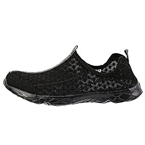 Aleader Men's Mesh Slip On Water Shoes Black/Black 11 D(M) US