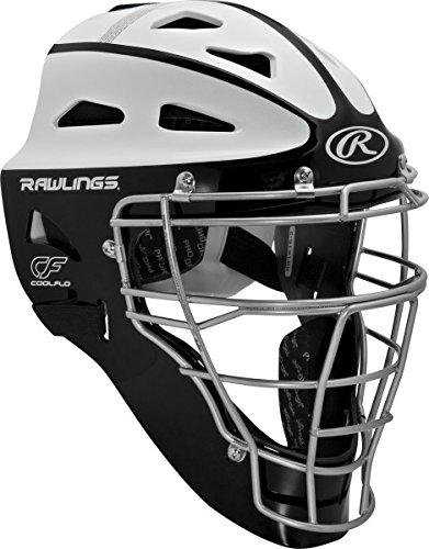 Rawlings Sporting Goods Youth Softball Protective Hockey Style Catcher's Helmet, Black/White