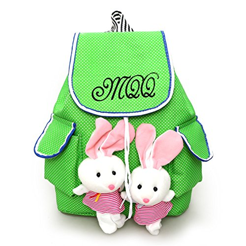 FTSUCQ Girls Canvas Bunny Student Backpack Travel Daypack Tote School Bags - Europe Triathlon
