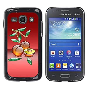 Paccase / SLIM PC / Aliminium Casa Carcasa Funda Case Cover - Fruit Macro Peaches - Samsung Galaxy Ace 3 GT-S7270 GT-S7275 GT-S7272