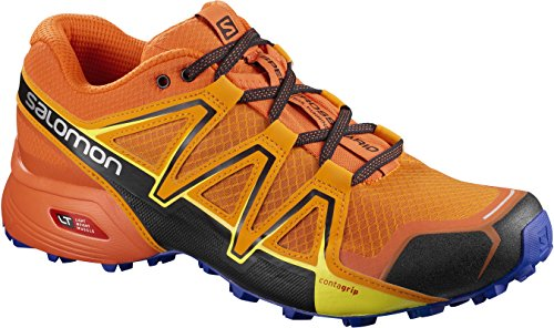 Salomon Speedcross Vario 2, Scarpe da Trail Running Uomo Giallo (Bright Marigold / Scarlet Ibis / Surf T 000)