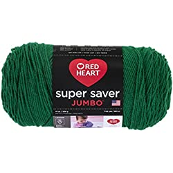 RED HEART E302B.0368 Super Saver Jumbo Yarn, Paddy Green