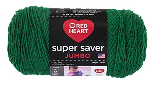 Red Heart Super Saver Jumbo Yarn, Paddy Green