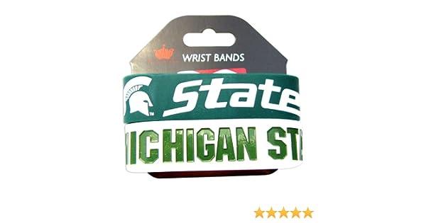aminco Michigan State Spartans Rubber Wrist Band Set