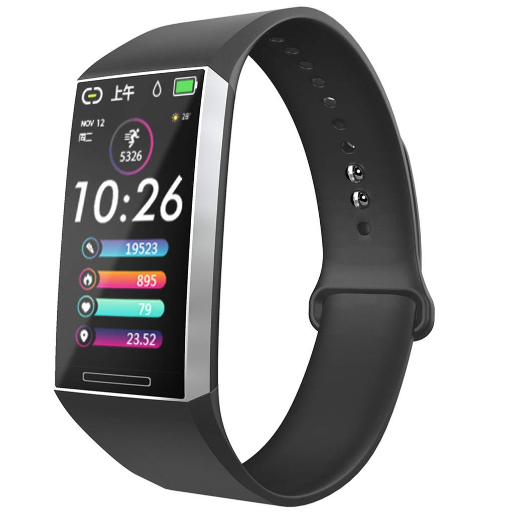 Opef s18 Multi-Function Sports Smart Watch, Calorie Tracker, Activity Heart Rate Monitor (Silver) by Opef Smart Watch