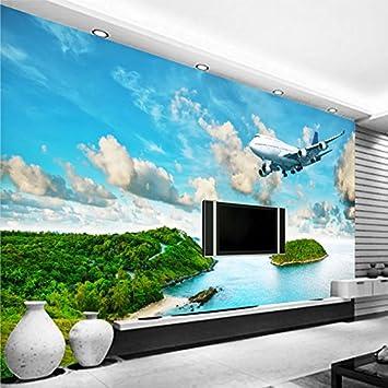 Leegt 3D Tapete Wallpaper Mural Custom 3D Am Meer Insel Regenwald ...