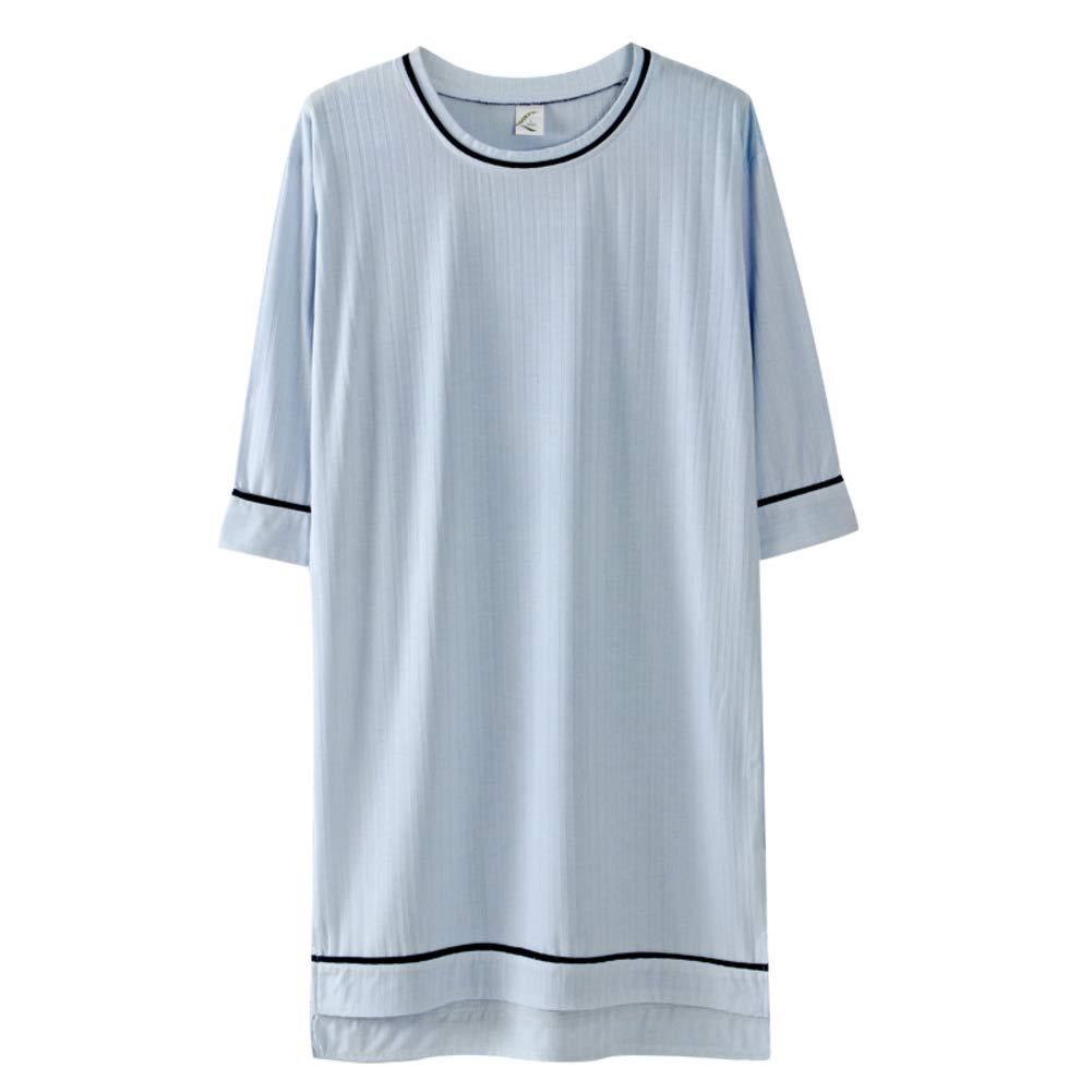 bluee KYWBD Women's Thin Dress,Casual Loose Nightdress