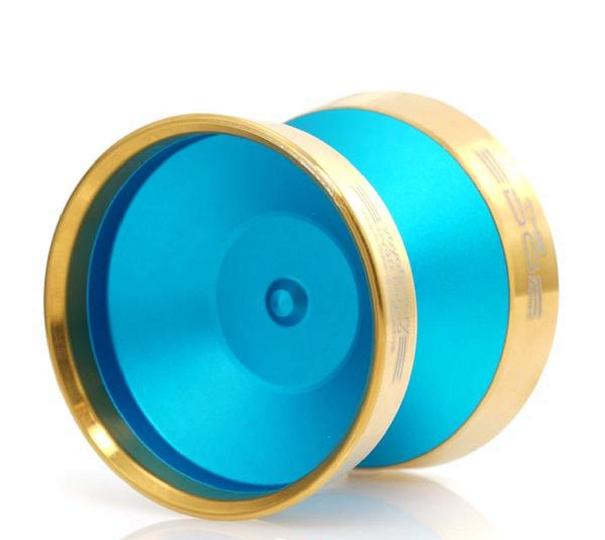 YoYoFactory Edge Beyond Yo-Yo - World Champion Evan Nagao Signature Yo-Yo! (Aqua w/Gold Rim)