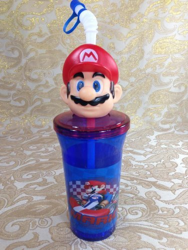 Super Mario Head Tumbler Cup 3d Sipper Cup Water Bottle Party Favors by Super (Party City Mario)