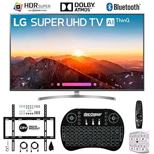 LG 65SK8000PUA 65 4K AI Ultra HD TV w/ThinQ + Wireless Keyboard + Wall Bracket Bundle