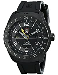 Luminox Men's A.5021 SXC PC Carbon GMT Analog Display Quartz Black Watch