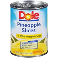 Pineapple Slices In 100% Pineapple Juice (Pack of 2)
