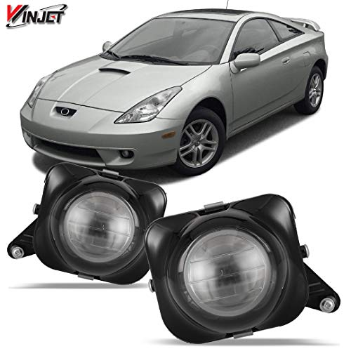Winjet WJ30-0204-09 OEM Series for [2000-2005 Toyota Celica] Clear Lens Driving Fog Lights