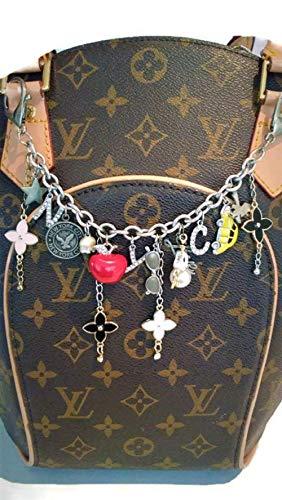 New York City Bag Chain Charm, Purse Charm fashioned with Clover Flower Fleur de Lis charms, Handmade, Handcrafted, Custom made. Gift