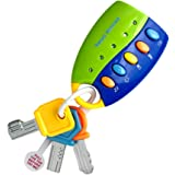 Sanwooden Toy Gift Musical Car Key Toy Colorful Baby Toy Smart Remote Sound Musical Car Key Keychain Pretend Education…