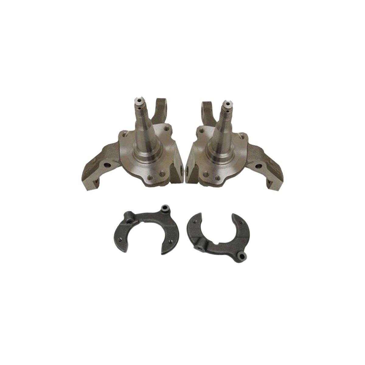"""1974 to 1978 Ford Mustang II 2 Pinto Forged Steel 1-Piece 2/"""" Drop Spindles Pair"""