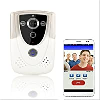 HOLDJOY Wireless WiFi IP Video Door Phone with POE Supports Two Ways Intercom and Remotely Unlock Door and SIM Card WIFI Video Doorbell