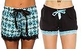 Just Love Womans Pajamas Shorts PJs Sleepwear (Pack of 2) 6334-10102-BLU-3X