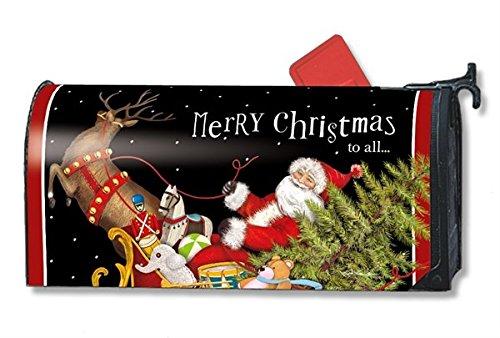 MailWraps Santa's Sleigh Mailbox Cover #01245